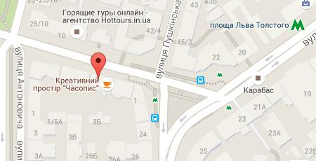 Карта проезда в Молодежный Клуб